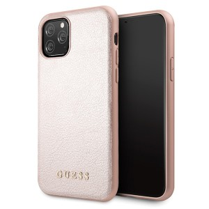 Guess Iridescent iPhone 11 Pro Lederhülle Rose Gold hardcase GUHCN58IGLRG