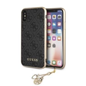 Guess Charms 4G Case GUHCPXGF4GGR iPhone Xs / X grau
