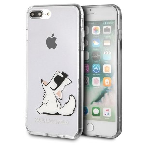 Karl Lagerfeld Choupette Fun Hülle KLHCI8LCFNRC iPhone 8 Plus / 7 Plus Transparent