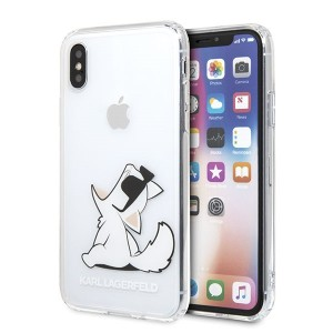Karl Lagerfeld Choupette Fun Hülle KLHCPXCFNRC iPhone Xs / X Transparent
