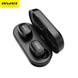 AWEI Bluetooth 5.0 T13 TWS Kopfhörer + Dockingstation schwarz