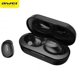 AWEI Bluetooth 5.0 T16 TWS Kopfhörer + Dockingstation schwarz