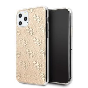 Guess 4G Glitter Hülle GUHCN58PCU4GLGO iPhone 11 Pro Gold