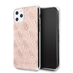 Guess 4G Glitter Hülle GUHCN58PCU4GLPI iPhone 11 Pro Pink