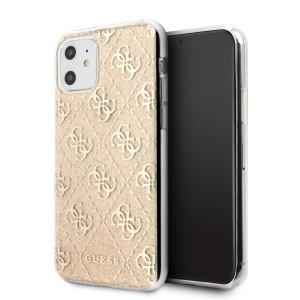 Guess 4G Glitter Hülle GUHCN61PCU4GLGO iPhone 11 Gold