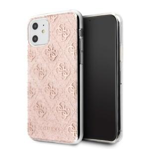 Guess 4G Glitter Hülle GUHCN61PCU4GLPI iPhone 11 Pink