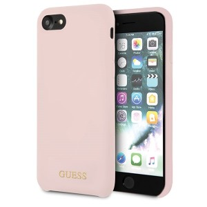 Guess Silicone Hülle GUHCI8LSGLLP iPhone 8 / 7 Pink
