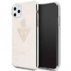 Guess Glitter Triangle Hülle GUHCN65SGTLPI iPhone 11 Pro Max Pink