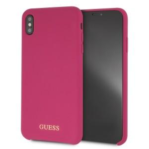 Guess Silikon Hülle GUHCI65LSGLPI iPhone Xs Max Pink