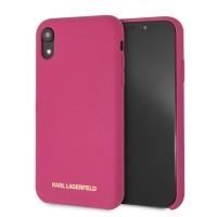 Karl Lagerfeld Silikon Hülle KLHCI61SLROG iPhone XR Pink
