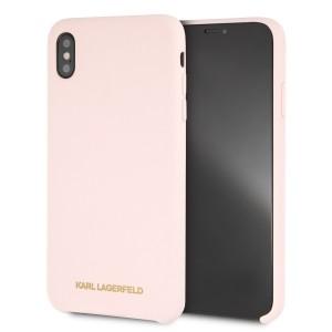 Karl Lagerfeld Silikon Hülle KLHCI65SLLPG iPhone Xs Max Hellrosa