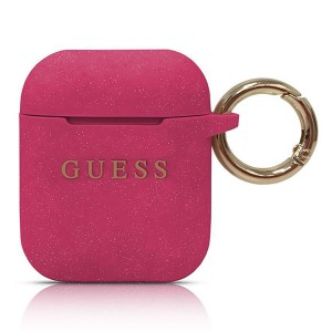 Guess Silikon Schutzhülle AirPods 1 / 2 Pink GUACCSILGLFU