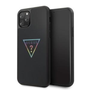Guess Triangle Glitter Hülle GUHCN58TRMLBK iPhone 11 Pro schwarz
