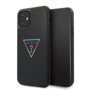 Guess Triangle Glitter Hülle GUHCN61TRMLBK iPhone 11 schwarz