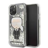 Karl Lagerfeld Ikonik Glitter Glow in the dark Hülle KLHCN58GLGIRKL iPhone 11 Pro transparent