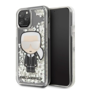 Karl Lagerfeld Ikonik Glitter Glow in the dark Hülle KLHCN58GLGIRKL iPhone 11 Pro transparent