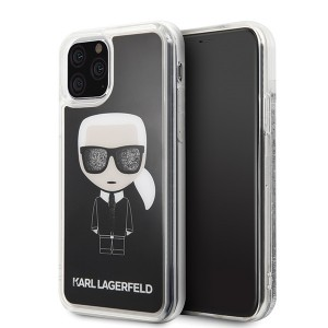 Karl Lagerfeld Glitter Karl Iconic Hülle KLHCN58ICGBK iPhone 11 Pro schwarz
