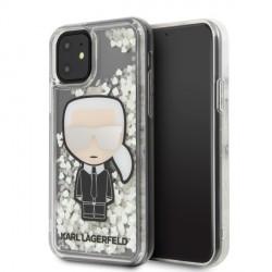 Karl Lagerfeld Ikonik Glitter Glow in the dark Hülle iPhone 11 KLHCN61GLGIRKL