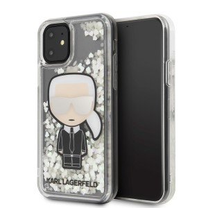 Karl Lagerfeld Ikonik Glitter Glow in the dark Hülle iPhone 11 KLHCN61GLGIRKL