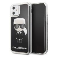 Karl Lagerfeld Glitter Karl Iconic Hülle iPhone 11 schwarz KLHCN61ICGBK