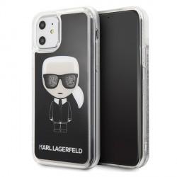 Karl Lagerfeld Glitter Karl Iconic Hülle KLHCN61ICGBK iPhone 11 schwarz