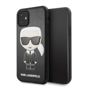 Karl Lagerfeld Karl Embossed Hülle KLHCN61IKPUBK iPhone 11 schwarz