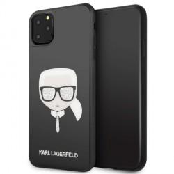 Karl Lagerfeld Iconic Glitter Karl`s Head Hülle KLHCN65DLHBK iPhone 11 Pro Max schwarz