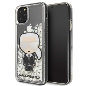 Karl Lagerfeld Ikonik Glitter Glow in the dark Hülle KLHCN65GLGIRKL iPhone 11 Pro Max Transparent
