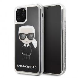 Karl Lagerfeld Glitter Karl Iconic Hülle KLHCN65ICGBK iPhone 11 Pro Max schwarz