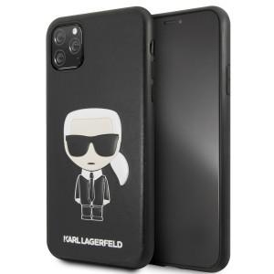 Karl Lagerfeld Karl Embossed Hülle KLHCN65IKPUBK iPhone 11 Pro Max schwarz