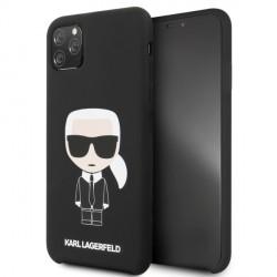 Karl Lagerfeld Silicone Iconic Hülle KLHCN65SLFKBK iPhone 11 Pro Max schwarz