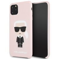 Karl Lagerfeld Silicone Iconic Hülle KLHCN65SLFKPI iPhone 11 Pro Max Rosa