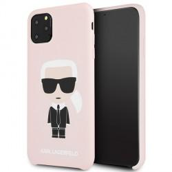Karl Lagerfeld Silicone Iconic Hülle KLHCN65SLFKPI iPhone 11 Pro Max Rosa