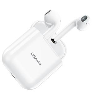 USAMS Bluetooth 5.0 TWS YA Series Kopfhörer kabellos weiß BHUYA01