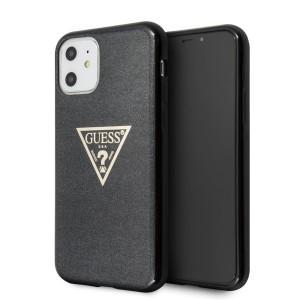 Guess iPhone 11 Hülle Case Cover schwarz Glitter Triangle GUHCN61SGTLBK