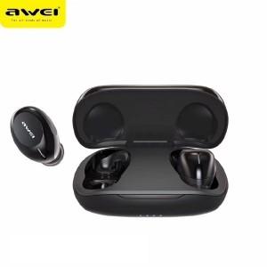 AWEI Bluetooth 5.0 T20 TWS Kopfhörer + Dockingstation schwarz