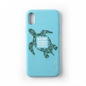 Wilma Ocean Schildkröte Stop Plastic Eco Hülle iPhone Xs / X blau