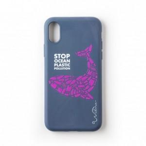 Wilma Ocean Whale Stop Plastic Eco Hülle iPhone Xs / X blau