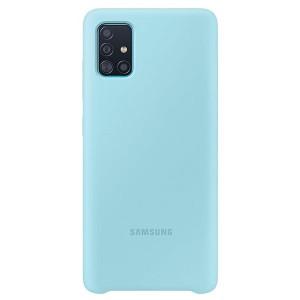 Original Samsung Silikonhülle EF-PA515TL Galaxy A51 A515 blau