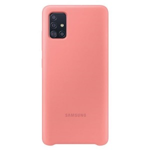 Original Samsung Silikonhülle EF-PA515TP Galaxy A51 A515 pink