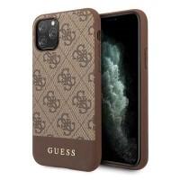 Guess 4G Stripe Schutzhülle iPhone 11 Pro Braun GUHCN58G4GLBR