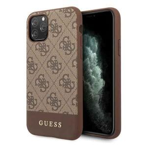 Guess 4G Stripe Lederhülle iPhone 11 Pro Braun GUHCN58G4GLBR