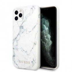 Guess Marble Hülle iPhone 11 Pro Weiß GUHCN58PCUMAWH