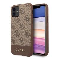 Guess 4G Stripe Schutzhülle iPhone 11 Braun GUHCN61G4GLBR