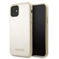 Guess Iridescent iPhone 11 Lederhülle gold hardcase GUHCN61IGLGO