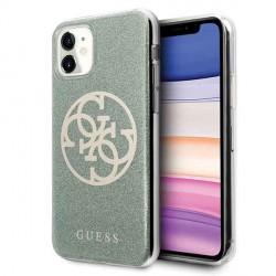 Guess Glitter 4G Circle Hülle iPhone 11 khaki GUHCN61PCUGLKA
