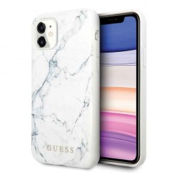 Guess Marble Hülle iPhone 11 Weiß GUHCN61PCUMAWH