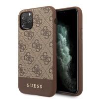 Guess 4G Stripe Schutzhülle iPhone 11 Pro Max Braun GUHCN65G4GLBR