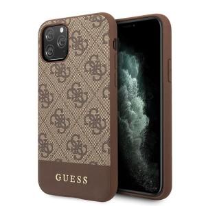 Guess 4G Stripe Lederhülle iPhone 11 Pro Max Braun GUHCN65G4GLBR