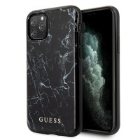 Guess Marble Hülle iPhone 11 Pro Max Schwarz GUHCN65PCUMABK